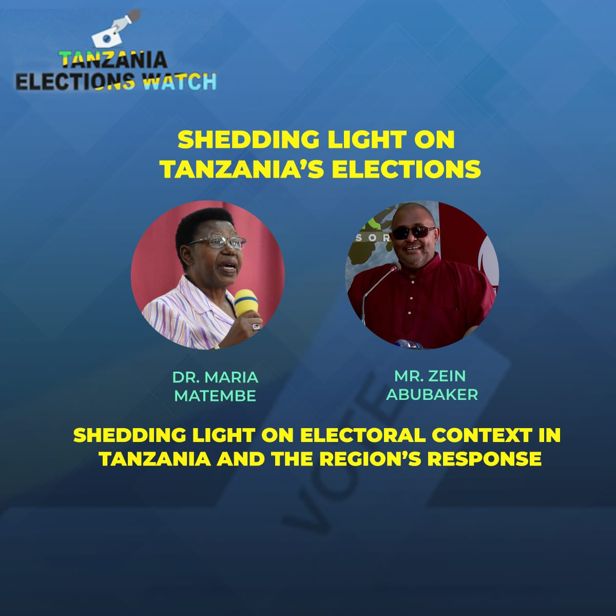 Zein Abubakar and Miriam Matembe on electoral context in Tanzania and the region's response